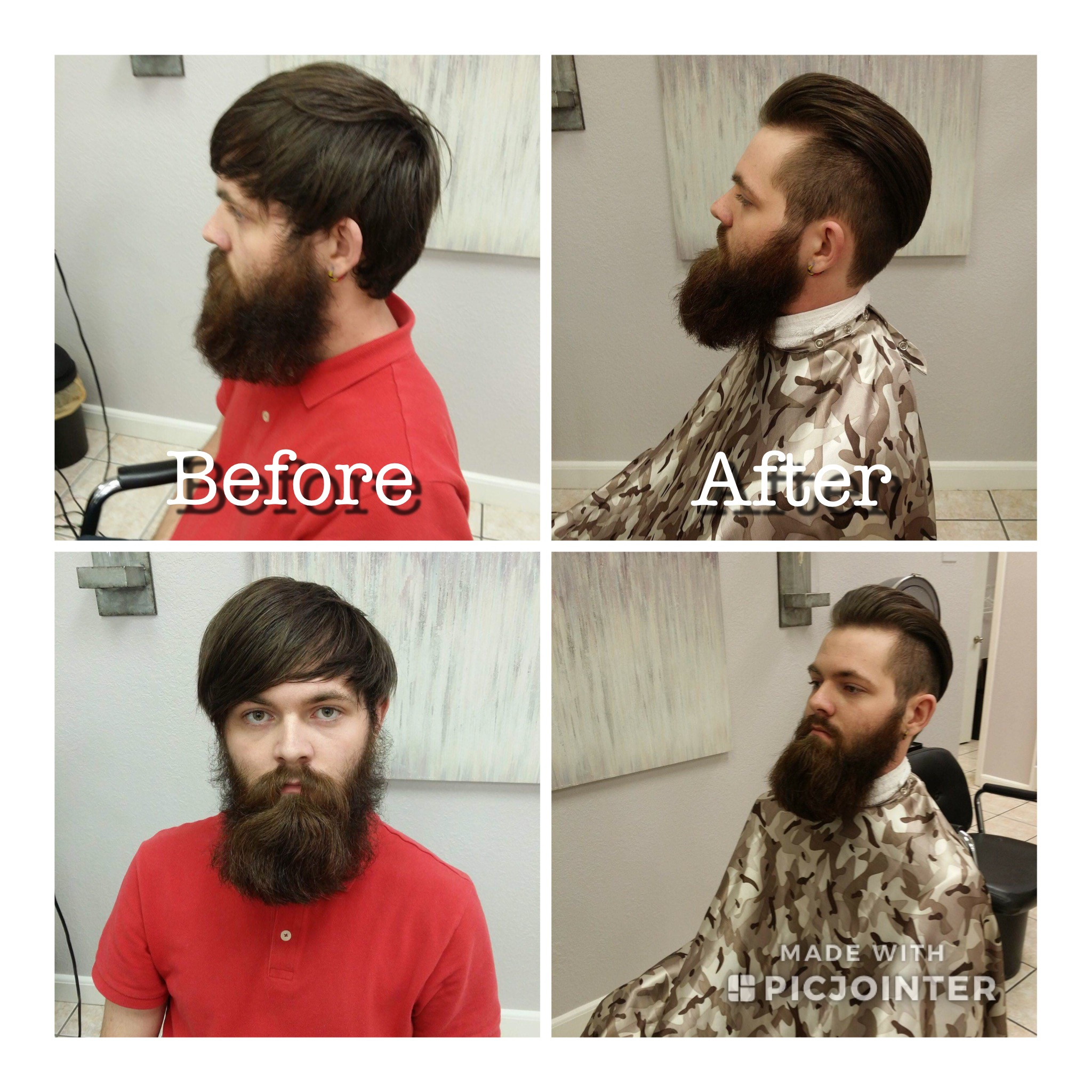Men's beard trim